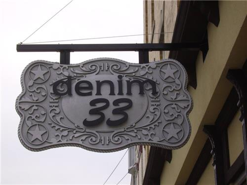 GSC-500-Sign-Series-Dimensional-Custom-Crafted-Hanging-Sign-Denim-33-Greensburg-IN
