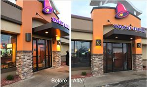 Green Sign Company Exterior lighting repair Taco Bell Greensburg IN