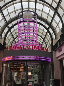 Green Sign Company Neon Lighting Repair Circle Center Mall Regal Cinema Indianapolis IN
