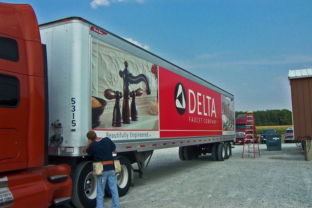 Delta Faucet - Fleet Trailer Graphics - GSC 110 Series