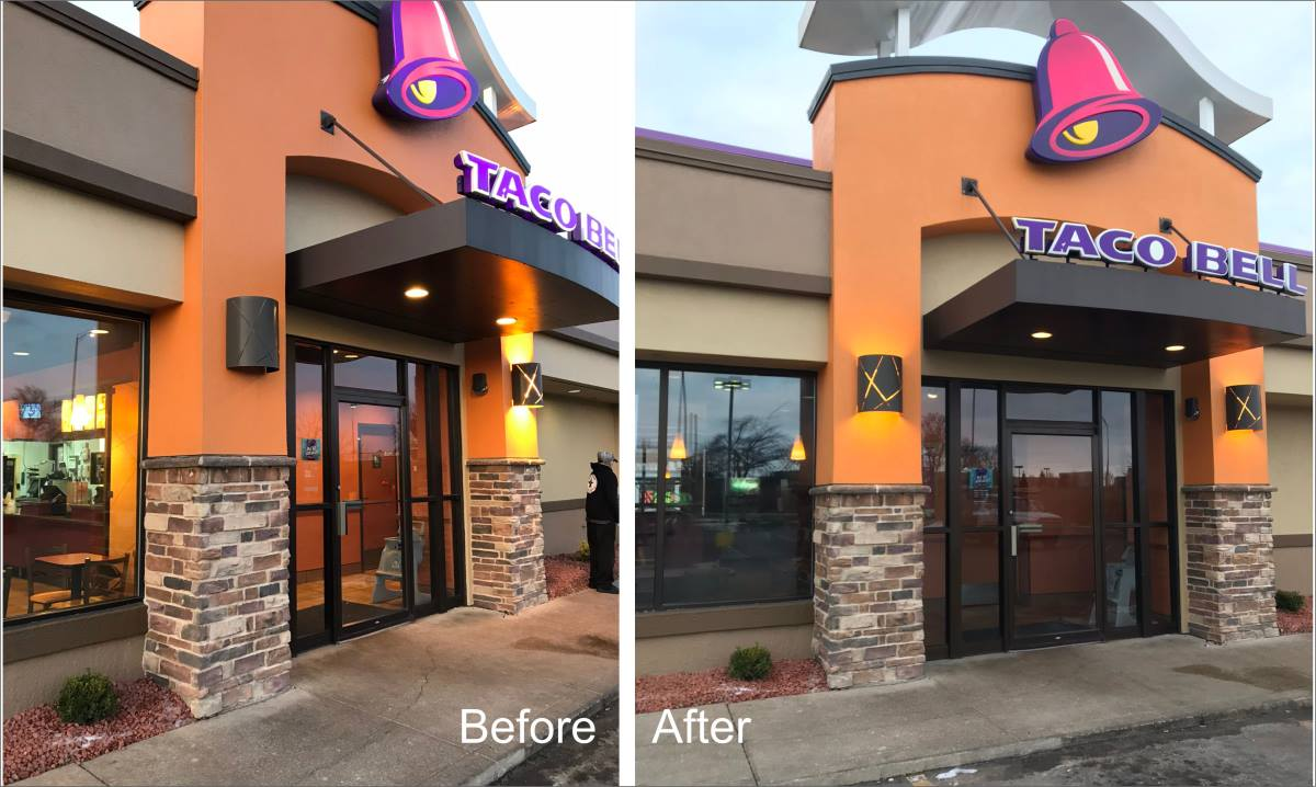 Green Sign Company Exterior lighting repair Taco Bell Greensburg IN ... & Taco Bell - Interior u0026 Exterior Sign u0026 Lighting Repair